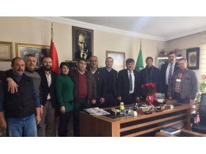 CHP Tepebaşı Teşkilatı, Ziraat Odası Başkanı Buluşan'ı Ziyaret Etti