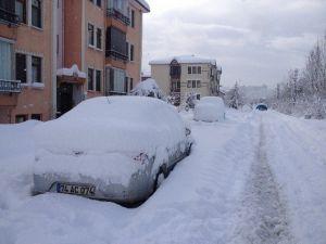 Bartın'da Kar Etkisini Sürdürdü