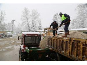 Sapanca Belediyesi Yoğun Kar Yağışı Sonrasında Önlemlerini Aldı