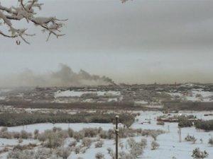 Sur'da teröristler evleri ateşe verdi