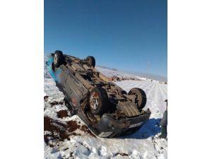 Buzlanma Kazaya Neden Oldu: 2 Yaralı