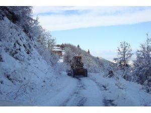 Kar Yağışı Pazar Kurulmasını Engelledi