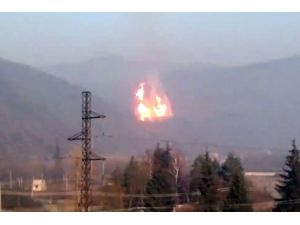 Ukrayna Emniyeti: Soyuz doğal gaz hattı toprak çökmesiyle patladı