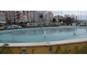 Bandırma'da Havuz Dondu