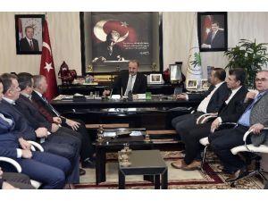 Mim-der İlk Ziyaretini Mamak Belediye Başkanı Akgül'e Yaptı