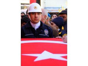 Şehit Polis Memuru Erzurum'da Son Yolculuğuna Uğurlandı