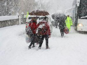 Bartın'da Eğitime İki Gün Kar Tatili