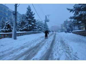 Derik'te Kar Tatili