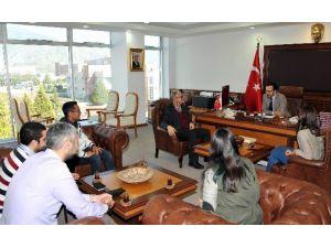 ADÜ Bisiklet Topluluğu Rektör Bircan'a Ziyaret Gerçekleştirdi