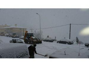 Yoğun Kar Karaman'ın Yüksek Kesimlerinde Etkili Oluyor
