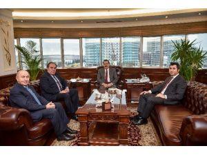 Bakan Çelik, TFF Başkanı Demirören'i Kabul Etti