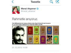 Meral Akşener, S.ahmet Arvasi'yi Andı