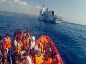Sahil Güvenlik Ekibinin Ege Denizinde Operasyonları