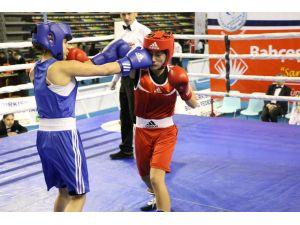 Kadın boksörler Çeşme'de