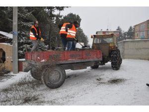Bayat Belediyesi'nden Kar Mücadelesi