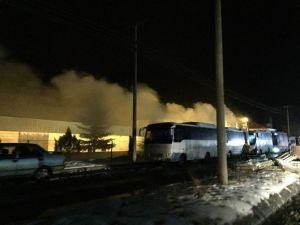 Parke Fabrikasında Yangın Paniği
