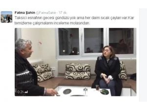 Fatma Şahin'den Gece Kar Mesaisi