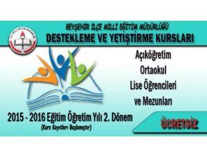 Beyşehir'de Destekleme Ve Yetiştirme Kursları