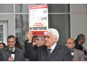Ankara Vergi Dairesi önünde 'çorbalı' zam protestosu
