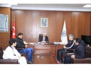 Tekvandocu Akgül'den Başkan Şimşek'e ziyaret