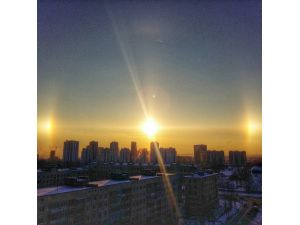 """St. Petersburglular, """"yalancı güneşi"""" görüntüledi"""
