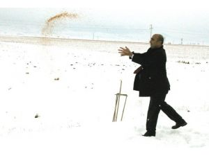 Başkan Özdemir'den Doğadaki Kuşlara Yem
