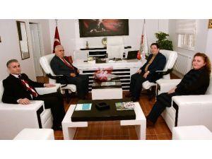 Başkan Yazgı'dan, Aktürk'e Hayırlı Olsun Ziyareti