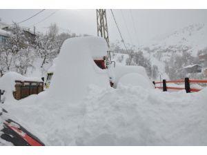 Mutki'de Kar Yağışı