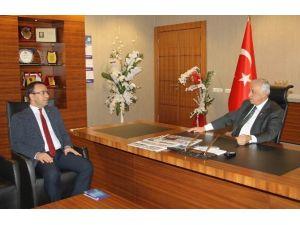 Ticaret İl Müdür V. Bilal Yazıcı Gaib'i Ziyaret Etti