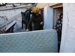 Çankırı'da Mülteci Ailelere Yatak Yardımı