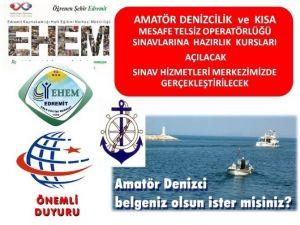 Amatör Denizcilik Sınavlarına Hazırlık Kursları Açılacaktır