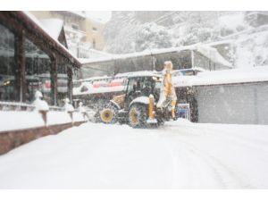 Bartın'da Karla Mücadele Sürüyor