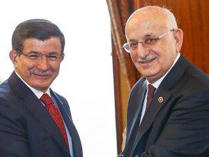 TBMM Başkanı Kahraman ile Başbakan Davutoğlu bir araya geldi