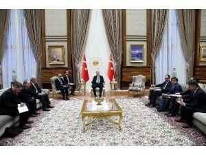 Cumhurbaşkanı Erdoğan, Mıcrosoft Ceo'su Nadella'yı Kabul Etti
