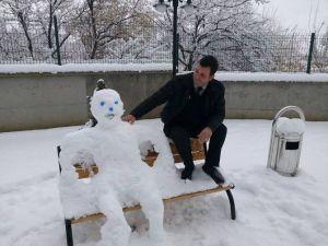 Erzincan'da Kardan Adam Manzaraları