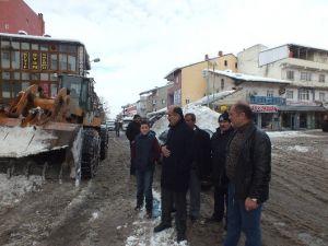 Malazgirt'te Karla Mücadele Çalışması