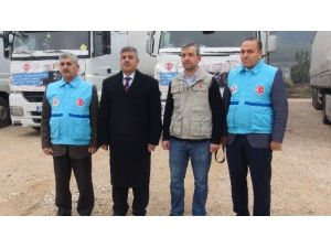 Türkiye Diyanet Vakfı'ndan Türkmenlere 6 Tır Yardım