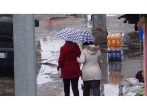 Kars'ta Şaşırtan Ocak Yağmuru