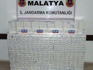 Malatya'da 3 Bin 720 Paket Kaçak Sigara Ele Geçirildi