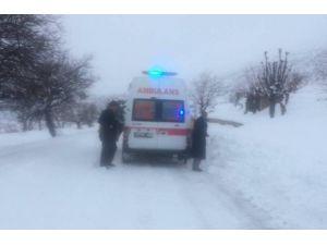 Tahta Sedye İle 25 Kilometre Taşınarak Ambulansa Ulaştırılan Kadın Kurtarılamadı