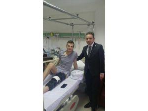 Milletvekili İshak Gazel, GATA'da Tedavi Altına Alınan Yaralı Askerimizi Ziyaret Etti