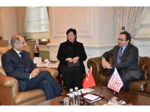 İçişleri Bakanı Ala, ABD'nin Ankara Büyükelçisi Bass'ı Kabul Etti