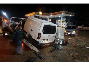 Tekirdağ'da Trafik Kazası Güvenlik Kamerasına Yansıdı