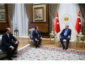 Cumhurbaşkanı Erdoğan, Suriye Türkmen Meclisi Başkanı Mustafa İle Meclis Üyesi Doğancı'yı Kabul Etti