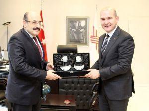 Bakan Soylu'dan YÖK Başkanı Saraç'a Ziyaret