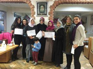Pursaklar'da Hanımlar İşaret Dili Sertifikası Aldı