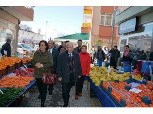 Başkan Albayrak'ın Şarköy Halk Pazarı Ziyareti