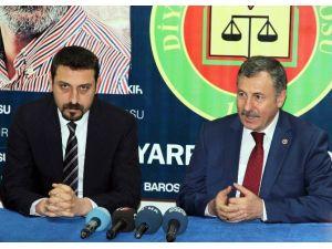 AK Partili Özdağ, Diyarbakır Barosu'nu Ziyaret Etti