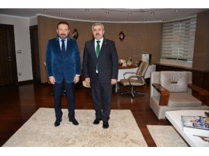 Başkan Baran'dan Başkan Doğan'a Ziyaret
