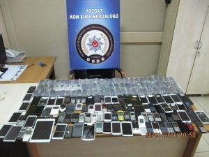 Yozgat Emniyeti 179 Adet Kaçak Cep Telefonu Ele Geçirdi